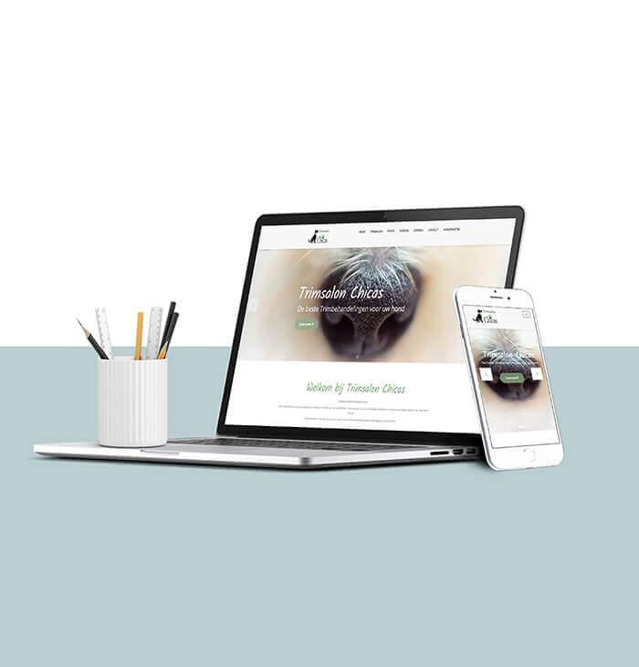 Trimsalon Chicas - website laten maken met focus op online succes.